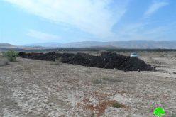 مستعمرو بيتاف يحوّلون مئات الدونمات من الأراضي الوقفية إلى أراضي زراعية في منطقة العوجا / محافظة أريحا