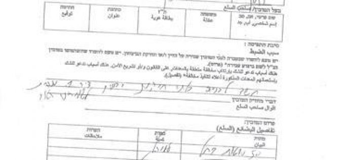 Israeli Occupation Forces confiscate three agricultural barracks from Al-Hathroreh Bedouin community