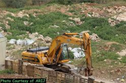 Israeli bulldozers demolished structures in Beit Sahour town