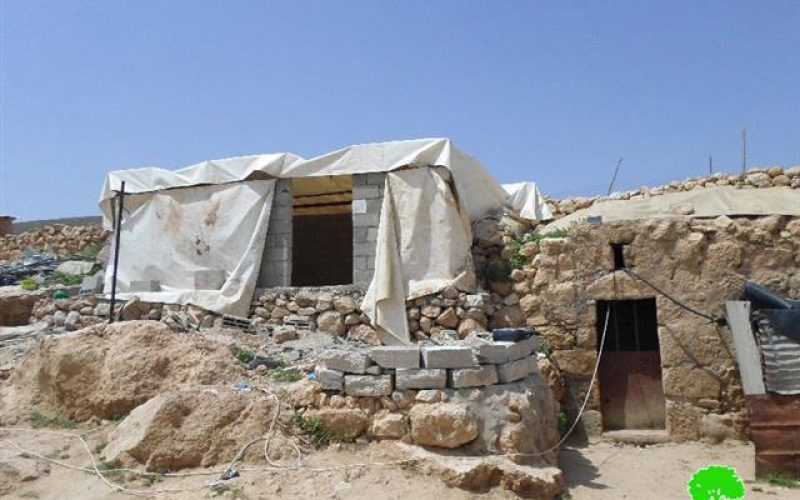 Stop-Work orders on a residence in the Hebron town of Yatta