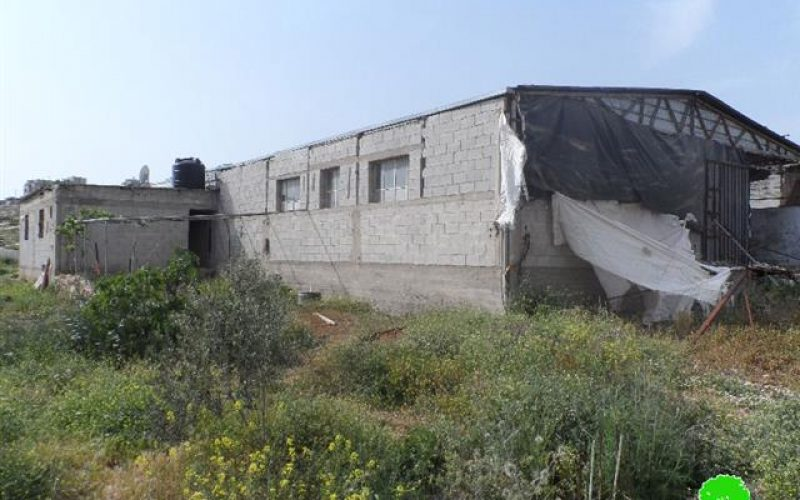 Israeli Occupation Forces notify chicken farm and water well of demolition in Nablus city