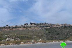 Expansion works on Kiryat Netafim colon, west Salfit governorate