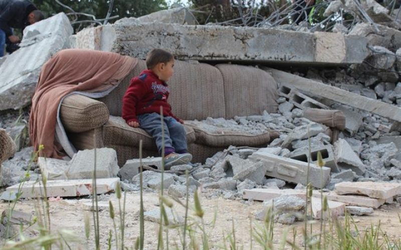 Just before dawn, Israeli bulldozers demolished three Palestinian homes in Al Walajeh village northwest of Bethlehem