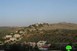 Israeli occupation authorities to extend the validity of three dunums seizure on Jalud lands