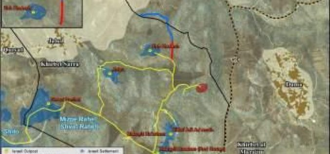 """To fortify Main Ramallah-Nablus Corridor"" New Israeli colonial Bypass road on Jaloud village lands"
