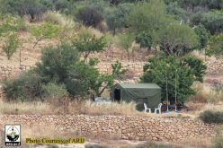 Military Observation Tent installed on Al-Khader Town lands