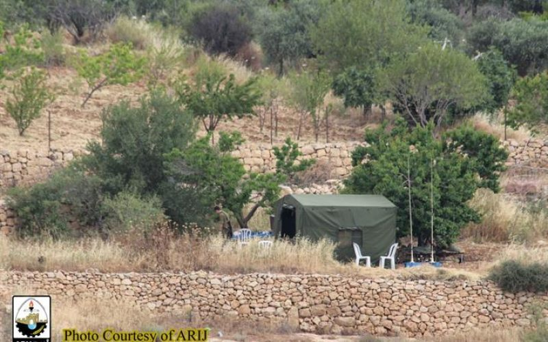 Military Observation Tent installed on Al-Khader Town lands