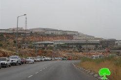 """أعمال توسعة كبيرة تشهدها المنطقة الصناعية """" ارائيل """" على أراض بلدة بروقين"""
