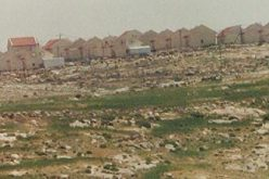 New Israeli colony east of Yatta in the West Bank