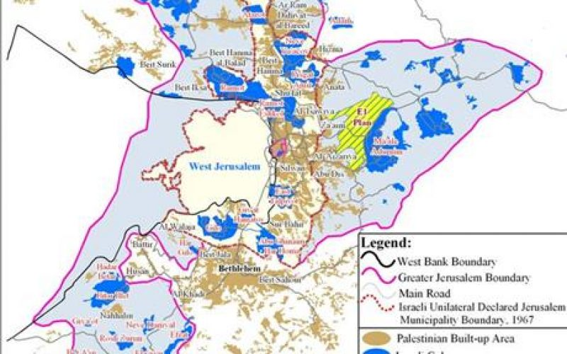 """Sharon Intensifies Colonization Activities in the West Bank <br> """"New Military orders for constructing the Segregation Wall around Ma'ale Adumim settlement Bloc"""""""