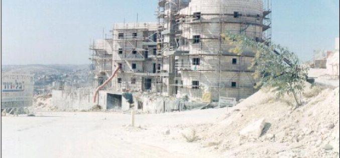 Construction at a New Location on Abu Ghnaim Mountain (Har Homa Settlement)