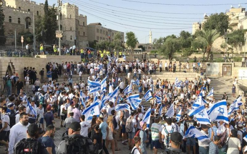 In the 49th memory of Jerusalem's occupation: Jerusalem Day March passes through Old City