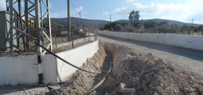 Stop-Work order on Water-Supply pipeline in Tubas governorate