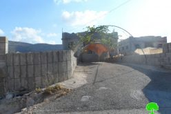 Stop-work orders on residential structures in Tubas governorate