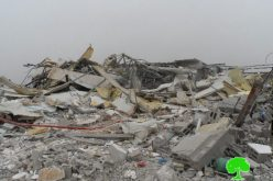 Demolition of structure and notification on another in Ramallah governorate