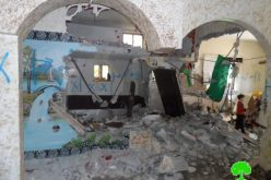 Israeli Occupation Forces demolish the residence of martyr Ehab Maswadeh's father in Hebron