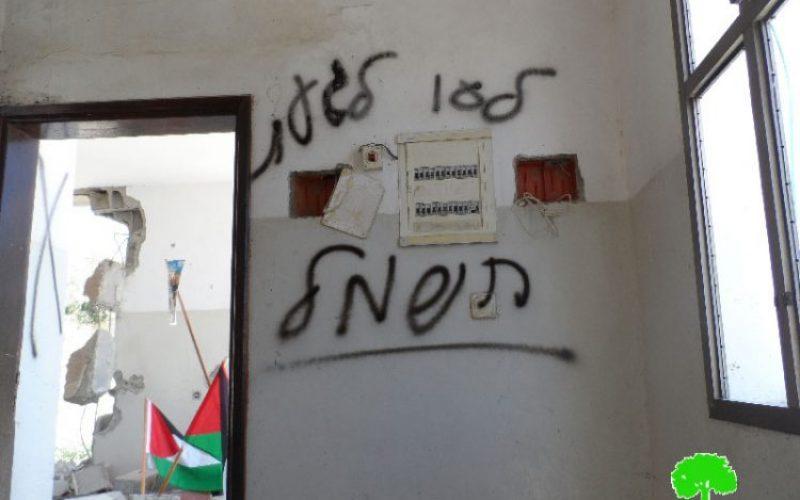 بذريعة الأمن ؟!! .. الاحتلال الإسرائيلي يهدم منزلاً في قرية حجة شرق مدينة قلقيلية