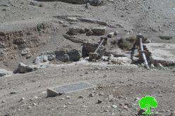 الاحتلال الإسرائيلي يخطر بالهدم لبركتين مائيتين في الأغوار الشمالية