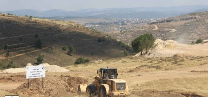 "Expanding the Illegal Israeli settlement of  Neve Daniyel Israeli Authorities started the construction of the ""Mekor Haim"" religious Institute campus"