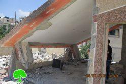 هدم 39 مسكناً بذريعة الأمن منذ بداية انتفاضة القدس <br>جيش الاحتلال يهدم منزلين في مخيم قلنديا بذريعة أمنية