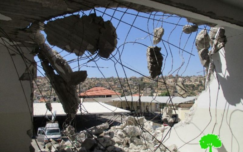 Israeli Occupation Forces demolish a residence in Qabatiya town on security claims
