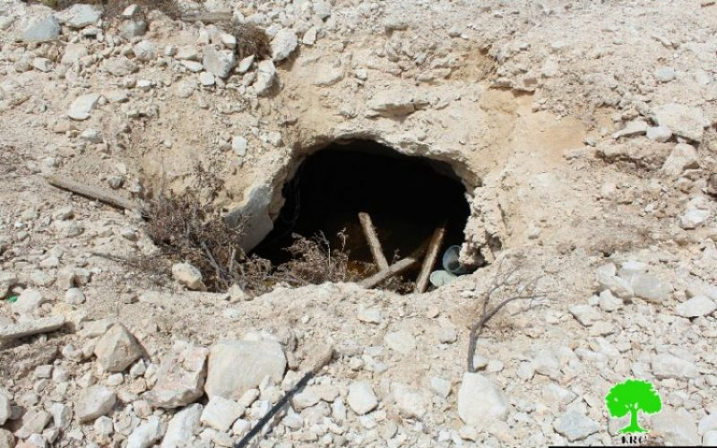 Israeli Occupation Forces ravage lands, uproot trees and demolish water well in Hebron