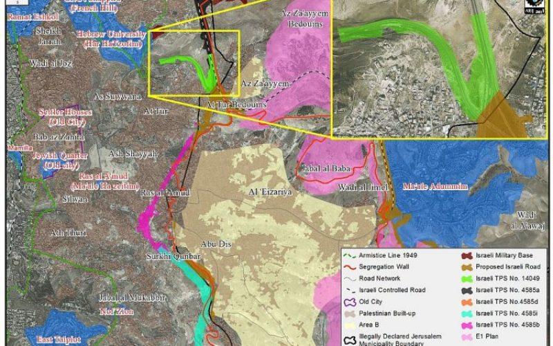 Az Zayaim interchange, another Israeli facts on the ground