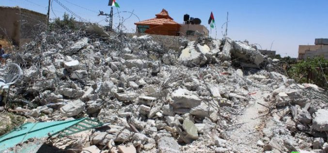 "On the claim of ""Security Purposes"": Israeli Occupation Forces demolish a house in Hebron governorate"