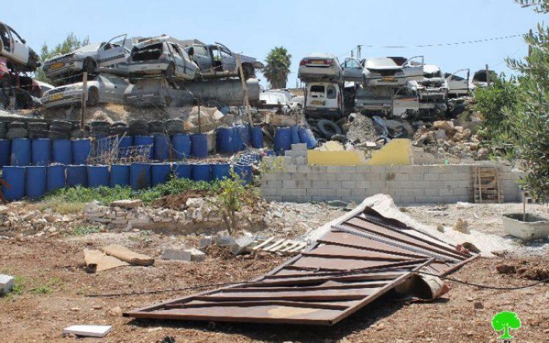 الاحتلال الإسرائيلي يهدم مسكناً زراعياً في بلدة عناتا بالقدس المحتلة