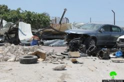 Israeli Occupation Forces demolish a car maintenance workshop in  Jerusalem town of Anata