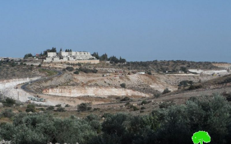 Israeli to establish a new colonial neighborhood  in Elkana colony, west Salfit governorate