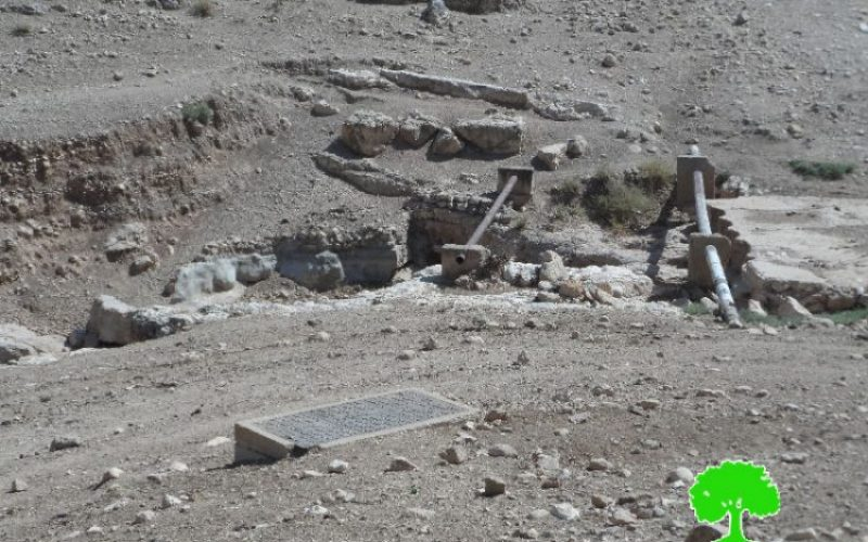 Israeli Occupation Forces notify two water pools of demolition east Tubas governorate