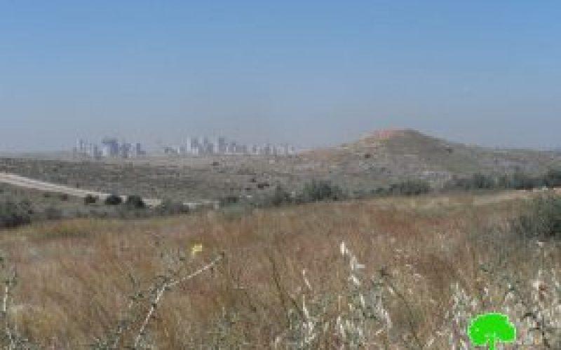 إخطار بتحويل 1148 دونما غرب محافظة سلفيت الى أراض دولة