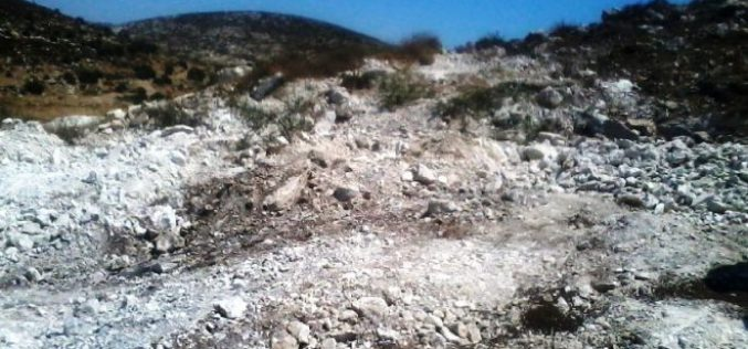 Israeli Occupation Forces demolish water well and uproot trees in Beit Ula town