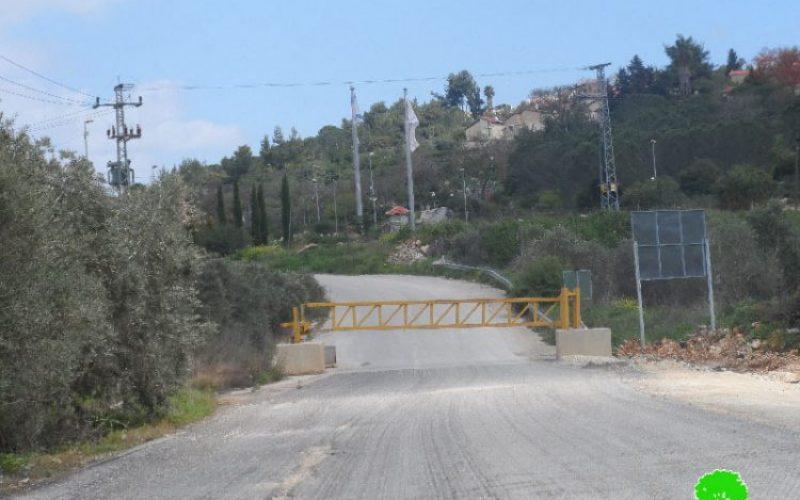 أغلق 145 طريقاً منذ بداية الانتفاضة,جيش الاحتلال الإسرائيلي يعيد إغلاق مدخل مدينة سلفيت الشمالي