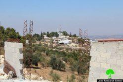 إخطارات بوقف العمل في منشآت زراعية بقرية فقيقيس غرب دورا بمحافظة الخليل