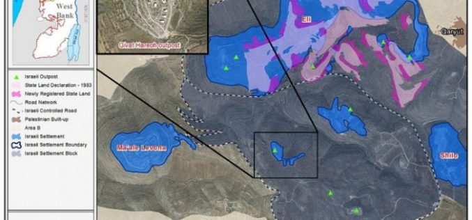 Expansion undergoing in Givat HaReoh outpost takes over more Palestinian land in Sinjil village