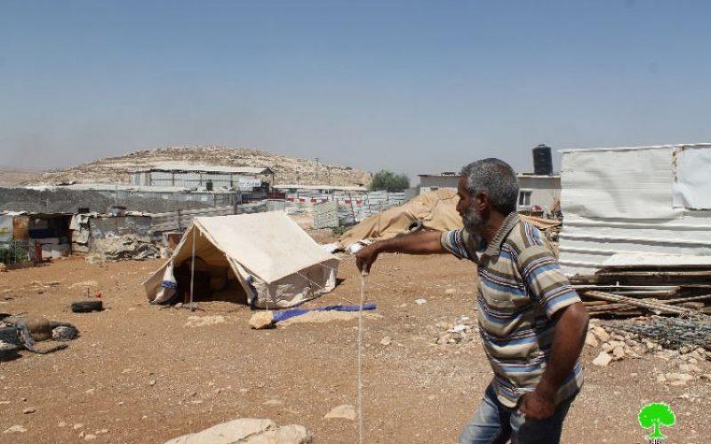 Israeli Occupation Forces demolish structures in Anata Bedouin community of Al-Azazima