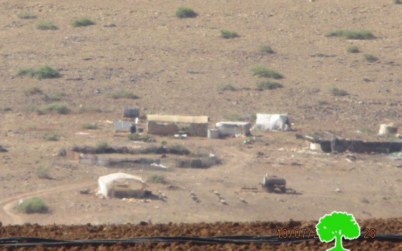 Demolition orders and confiscation acts in Tubas governorate