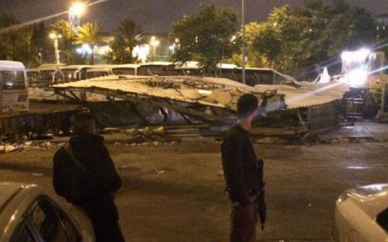 Israeli Occupation Forces demolish a mosque in Jerusalem neighborhood of Al-Musrara