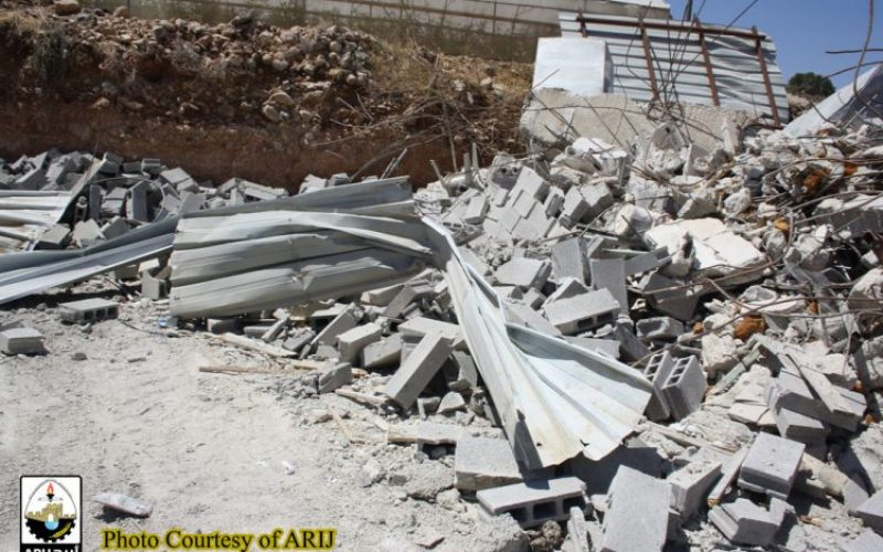 Dramatic demolition campaign targeted structures and houses in Bethlehem Governorate