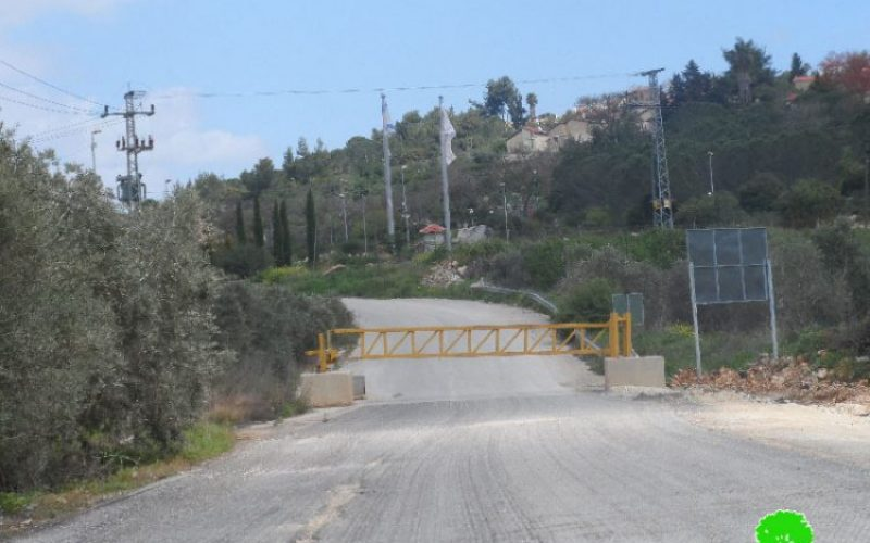 Israeli Occupation Forces seal off the northern entrance of Salfit city