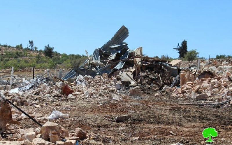 Israeli Occupation Forces entirely demolish the Hebron hamlet of Jurat Al-Kheil