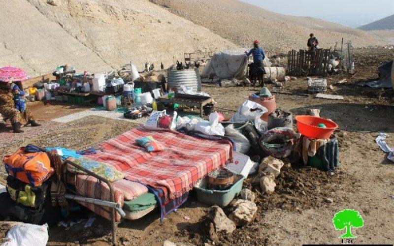 جيش الاحتلال يهدم مساكن وبركسات زراعية في منطقة الأغوار الوسطى