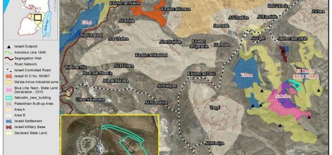 Israel deposits plan for major expansion in Nekodim settlement east of Bethlehem city