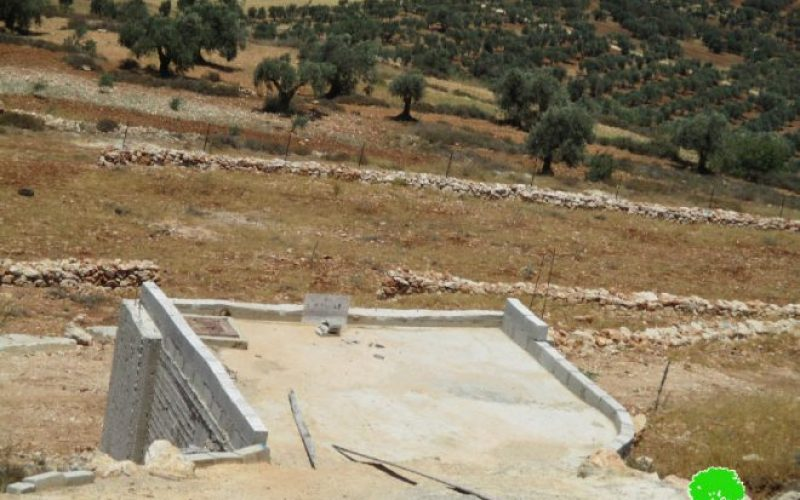 Stop-Work orders on agricultural structures in Nablus