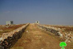 إخطارات بإخلاء أراض زراعية وهدم آبار وطريق زراعية في قرية قصرة