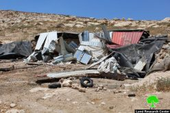 Israeli Occupation Forces demolish agricultural structure in Al-Samou' hamlet of Al-Radhim