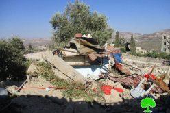 الاحتلال الإسرائيلي يهدم مطعماً ومحل لبيع التحف ويجبر مواطناً على هدم بركسه الزراعي في بلدة سبسطية بمحافظة نابلس