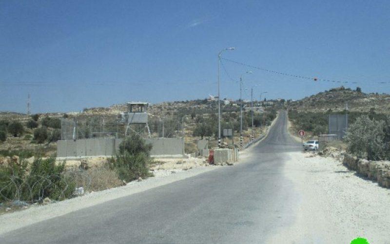 الاحتلال الإسرائيلي يشدد الحصار على حاجز شوفة العسكري بإقامة نقطة مراقبة عسكرية